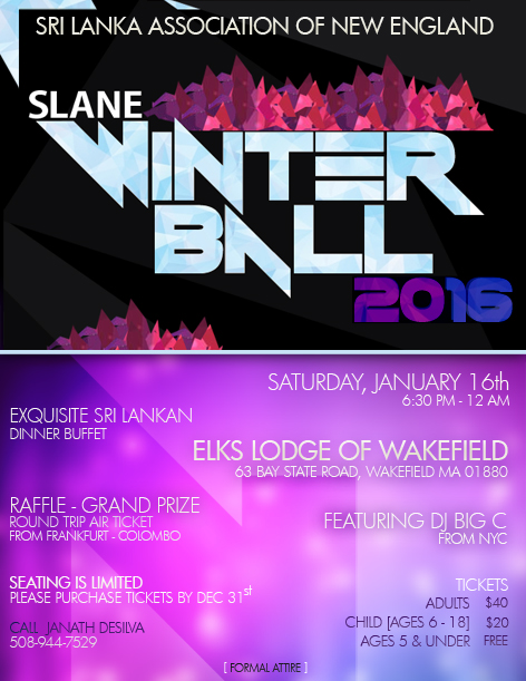 SLANE Winter Ball 2016